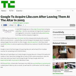 Google To Acquire Like.com After Leaving Them At The Altar In 2005