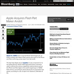 Apple Acquires Flash Part Maker Anobit