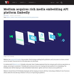 Medium acquires rich media embedding API platform Embedly