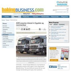 ADM acquires interest in Egyptian ag merchandiser
