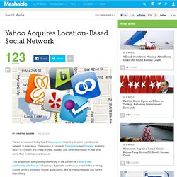 Yahoo Acquires Location-Based Social Network