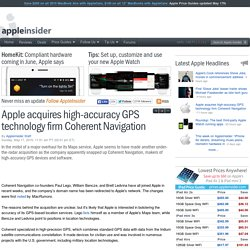 Apple acquires high-accuracy GPS technology firm Coherent Navigation