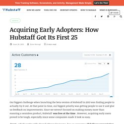 Acquiring Early Adopters: How Hubstaff Got Its First 25