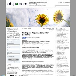 Finding and Acquiring Competitor Backlinks « Abipo Web Design Northern Ireland Blog