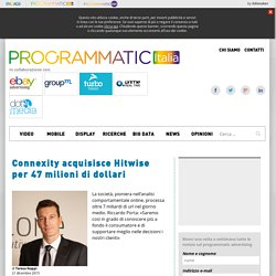 Connexity acquisisce Hitwise per 47 milioni di dollari - Programmatic Italia