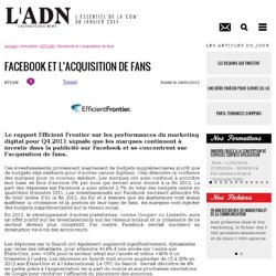 Facebook et l'acquisition de fans - ETUDE