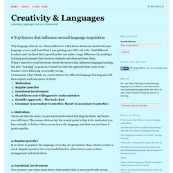 6 Top factors that influence second language acquisition - Creativity & Languages