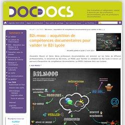 B2i.mooc : acquisition de compétences documentaires pour valider le B2i Lycée