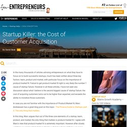 Startup Killer: the Cost of Customer Acquisition