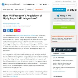 L'impact de l'acquisition de Giphy sur l'API Facebook