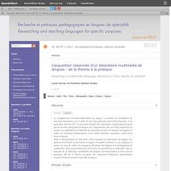 L'acquisition raisonnée d'un laboratoire multimédia de langues: de la théorie à la pratique