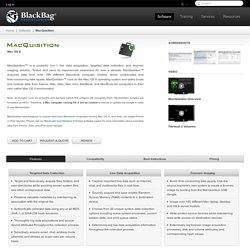 Forensic Imaging, Live Data Acquisition, and Targeted File Collection for Mac, MacBook, MacBook Pro, MacBook Air, and OS X Server Computers