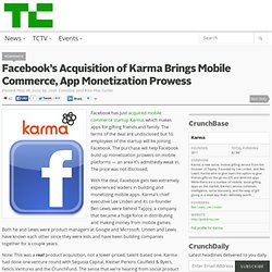 Facebook's Acquisition of Karma Brings Mobile Commerce, App Monetization Prowess