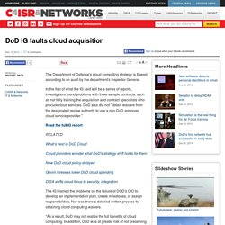 DoD IG faults cloud acquisition