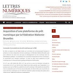 Acquisition d'une plateforme de prêt numérique par la Fédération Wallonie-Bruxelles