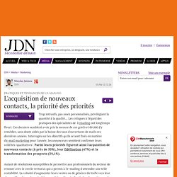 L'acquisition de nouveaux contacts, la priorité des priorités - Tendances e-mail marketing