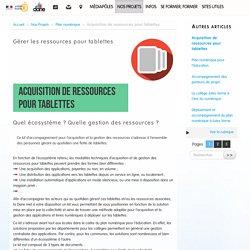 Acquisition de ressources pour tablettes - DANE Académie de Versailles