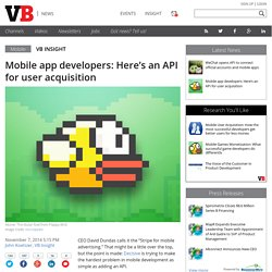 Mobile app developers: Here's an API for user acquisition