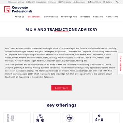 Merger and Acquisition Strategies - Mergers & Acquisitions in India - Corporate Professionals