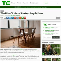 The Rise Of Micro Startup Acquisitions