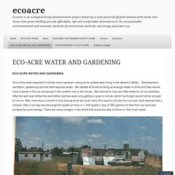 ECO-ACRE WATER AND GARDENING