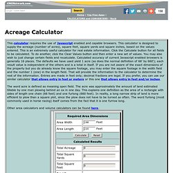 Acreage Calculator