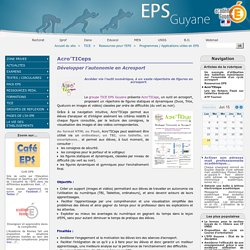 Acro'TICeps - EPS Guyane