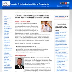 Adobe Acrobat for Legal Professionals Course: Learn How to Harness its Power | Pat Iyer.com