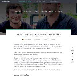 Acronymes Tech & Startups