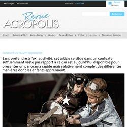 Revue Acropolis » Comment les enfants apprennent