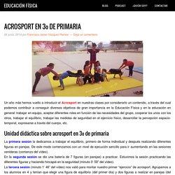 ACROSPORT EN 3º DE PRIMARIA