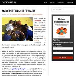 ACROSPORT EN 6º DE PRIMARIA