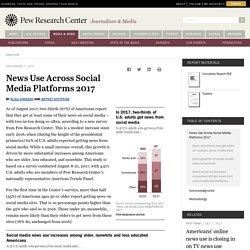 News Use Across Social Media Platforms 2017
