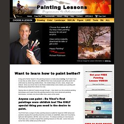 Oil and Acrylic Painting Lessons - FREE Painting Lesson VIDEOS.