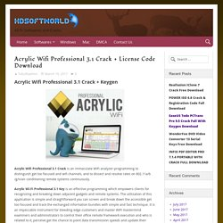 Acrylic Wifi Professional 3.1 Crack + License Code Download