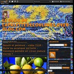 vidéo 2110 : Huile ou acrylique sur toile - Comment peindre un citron (nature morte) ?