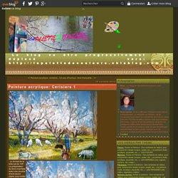 Peinture acrylique: Cerisiers 1