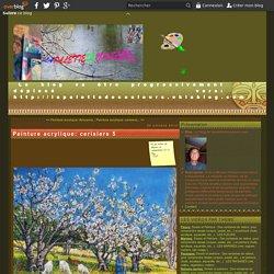 Peinture acrylique: cerisiers 5