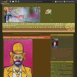 Peinture acrylique: Clown (Auguste jaune)