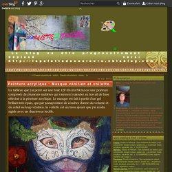 Peinture acrylique : Masque vénitien et voilette.