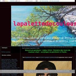 Dessin et peinture : vidéo 1514 : Peindre des tons de couleur chair - acrylique ou peinture à l'huile. - lapalettedecouleurs