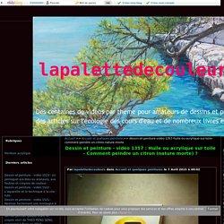 vidéo 1357 : Huile ou acrylique sur toile - Comment peindre un citron (nature morte) ? - lapalettedecouleurs