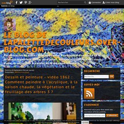 vidéo 1862 : Comment peindre à l'acrylique, à la saison chaude, la végétation et le feuillage des arbres 3 ?