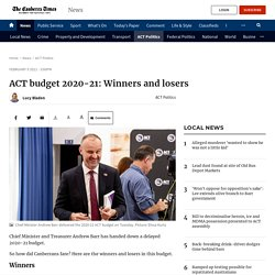 ACT budget 2020-21: Winners and losers