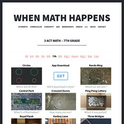 3 Act Math – 7th Grade – When Math Happens