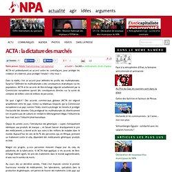 ACTA: la dictature des marchés
