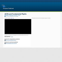 ACTA and Fundamental Rights