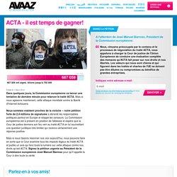 ACTA - il est temps de gagner!