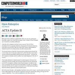 ACTA Update II