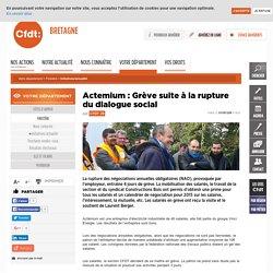 CFDT - Actemium : Grève suite à la rupture du dialogue social